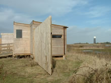 A bird hide at the RSPB reserve