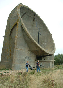 One of the Sound Mirrors at Lade
